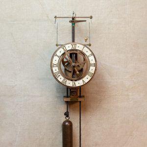 Ignatz reloj escape centrífugo esfera blanca