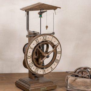 Clausen Blanco-Reloj centrífugo de mesa blanco-Ardavín Relojes Siglo XV