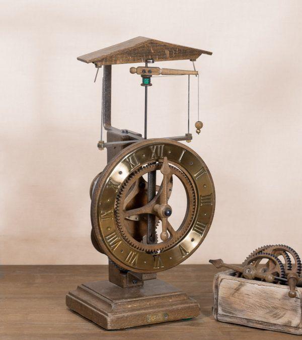Clausen Oro-Reloj centrífugo de mesa dorado-Ardavín Relojes Siglo XV