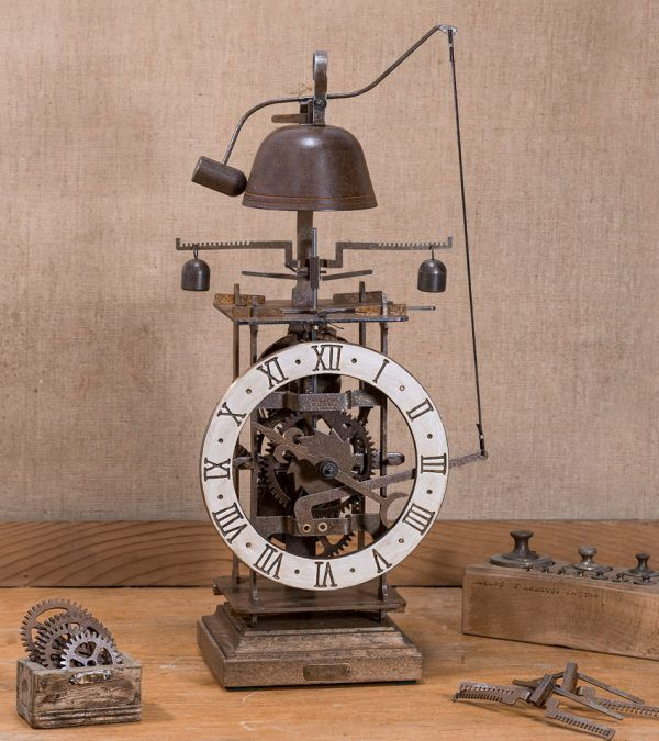 cCompletorium Blanco-Reloj de mesa con campana blanco-Ardavín Relojes Siglo XV