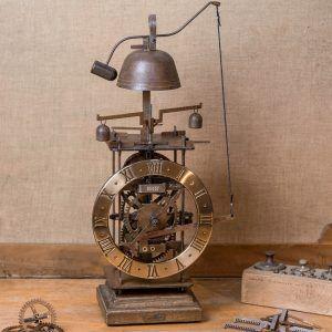 Completorium Oro-Reloj de mesa con campana dorado-Ardavín Relojes Siglo XV