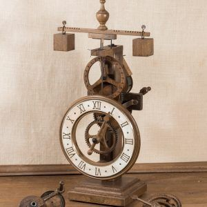 Laudes Blanco-Reloj de mesa de madera blanco-Ardavín Relojes Siglo XV