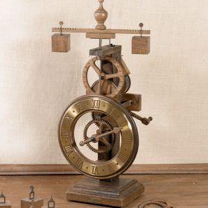 Laudes Oro-Reloj de mesa de madera dorado-Ardavín Relojes Siglo XV