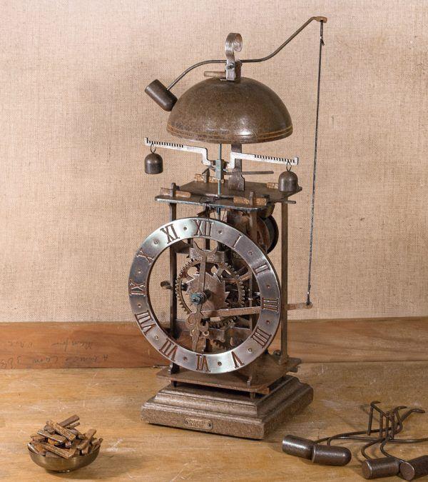 Foliot- reloj de mesa de hierro con campana - Ardavín Relojes Siglo XV